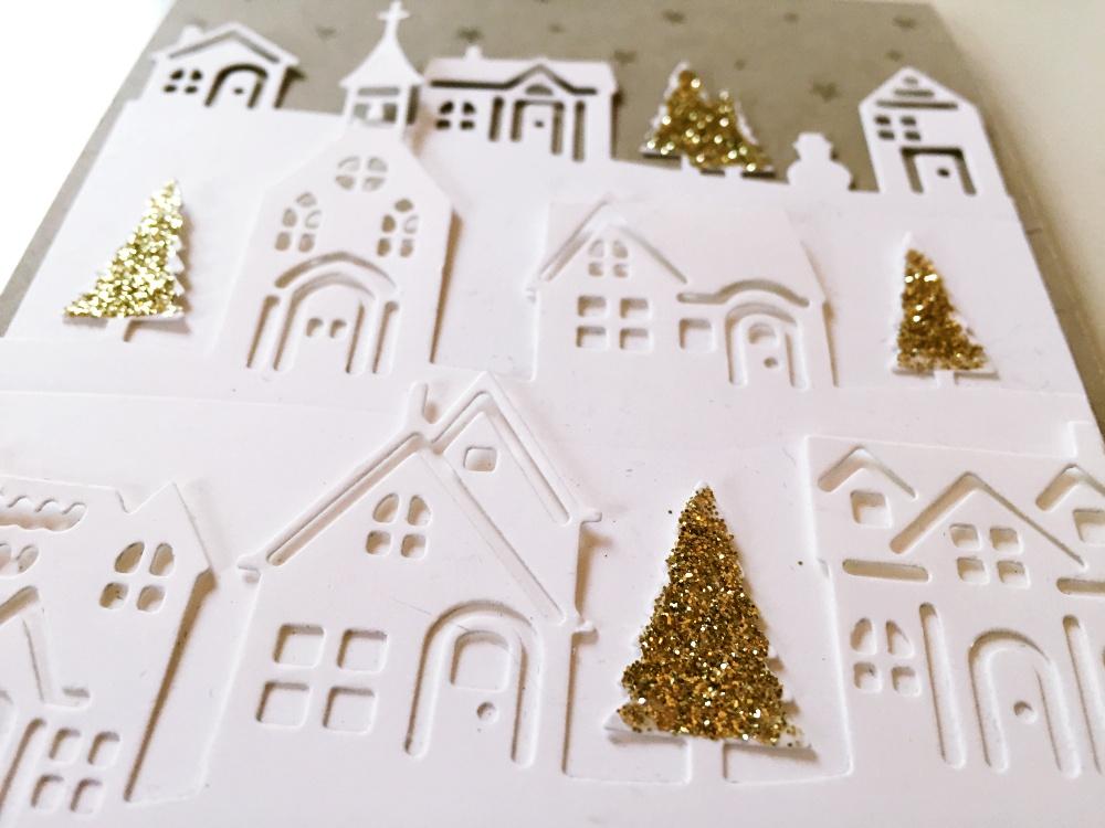 karte mit winterst dtchen weihnachten ist wenn das herz. Black Bedroom Furniture Sets. Home Design Ideas