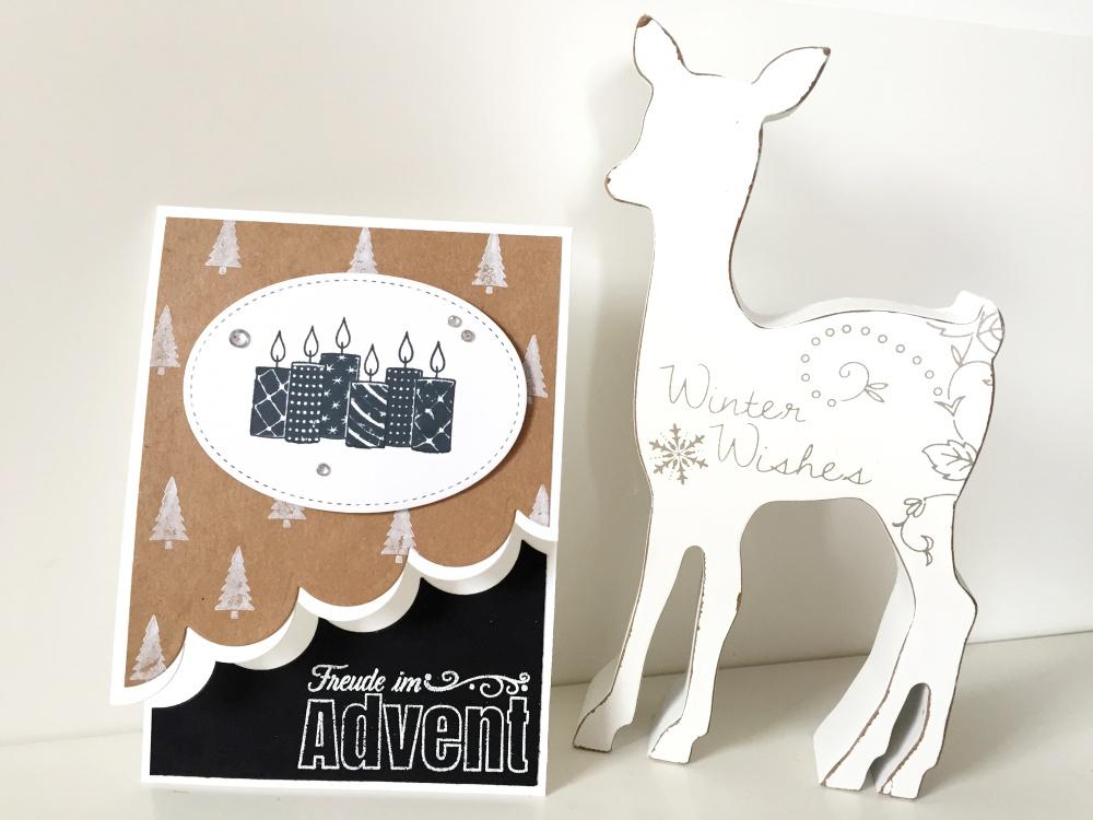 Advents /Weihnachtskarte In Naturtönen