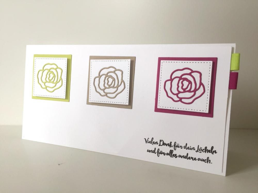 PaStello-BlogHop: Farb-Challenge - Dankeskarte in vorgegebenen Farben