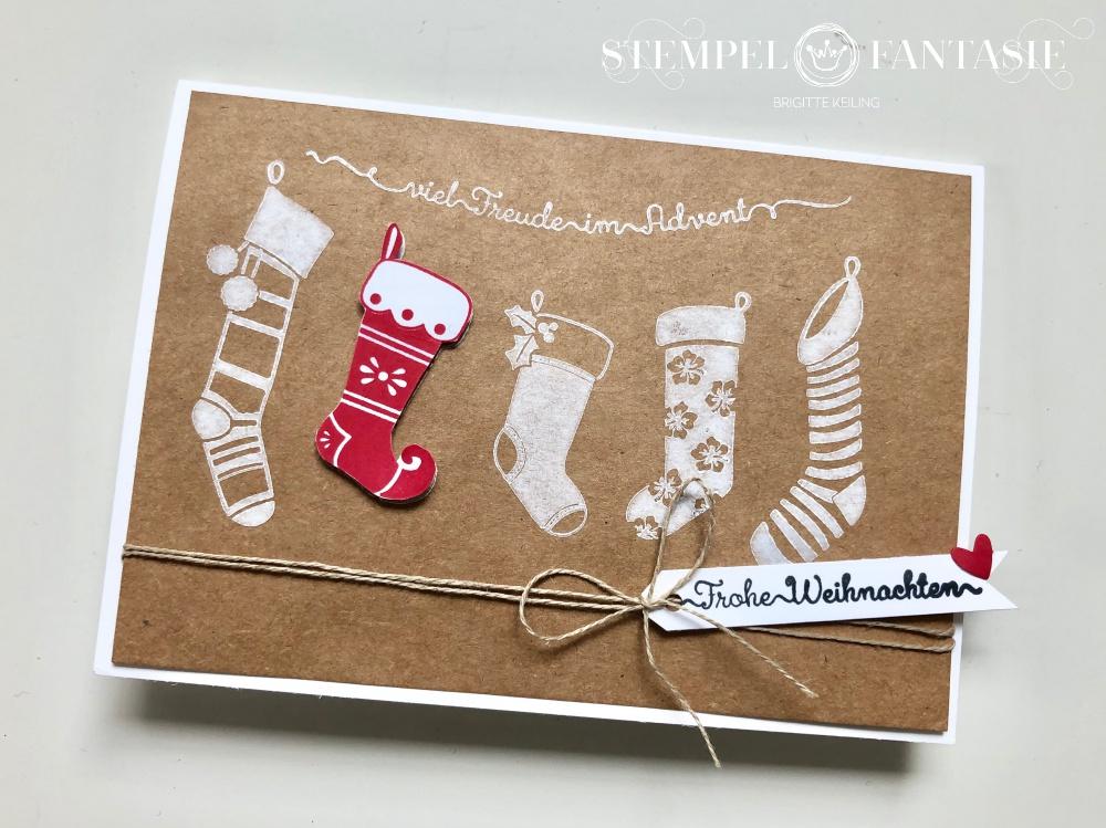 Weihnachtskarte fürs Weihnachtsstrümpfe Herz Jede Menge